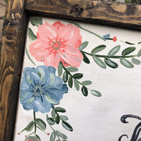 Session #3 - How to Paint Flowers on Your Word Sign - Gin's Den