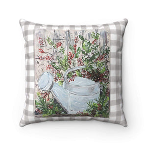 Pillow. Tin Can Country Square Decorative Pillow - Gin's Den