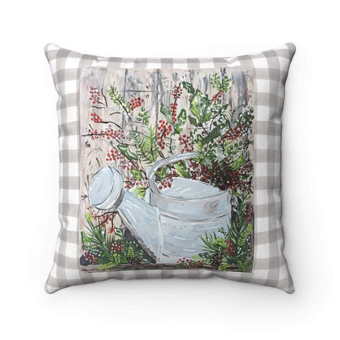 Pillow. Watering Can. Square Decorative Pillow - Gin's Den