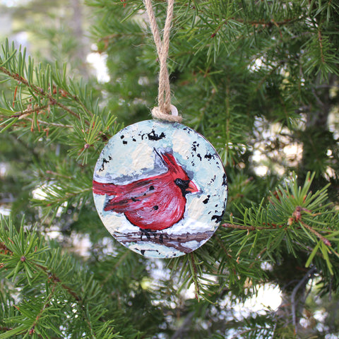 Cardinal Hand Painted Ornament