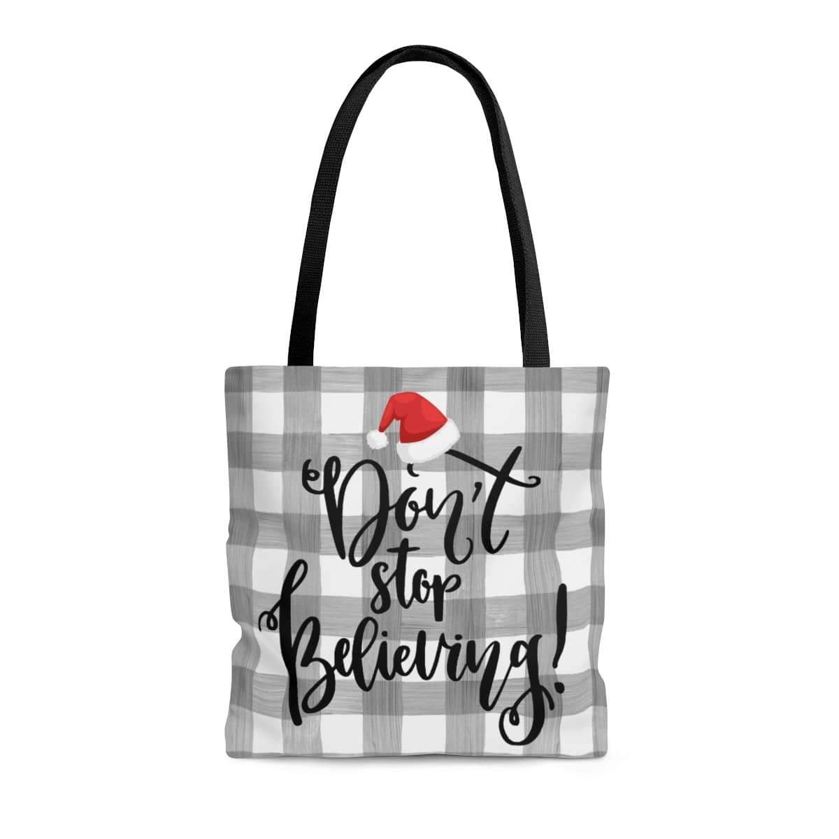 Don't Stop Believing Tote Bag. Print of Ginger LaCour's Original Design. - Gin's Den