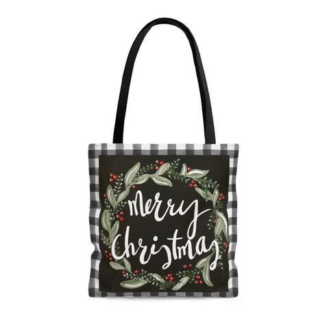 Merry Christmas Tote Bag. Print of Ginger LaCour's Original Design. - Gin's Den