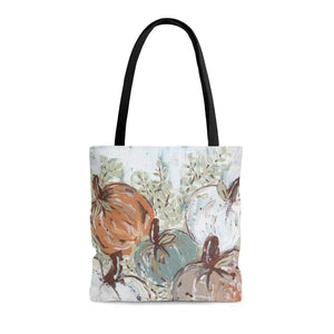 Pumpkin Patch Bright Tote Bag. Print of Ginger LaCour's Original Painting. - Gin's Den