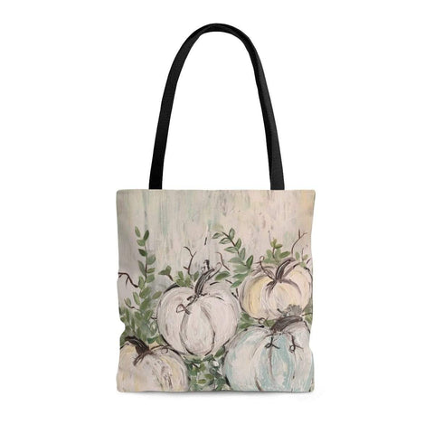 Pumpkin Patch Muted Tote Bag. Print of Ginger LaCour's Original Artwork. - Gin's Den