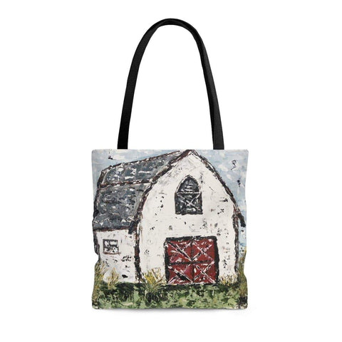 White Barn Design. Tote Bag. Print of Ginger LaCour's Original Painting. - Gin's Den