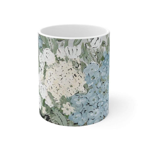 Country Floral White Ceramic Mug - Gin's Den