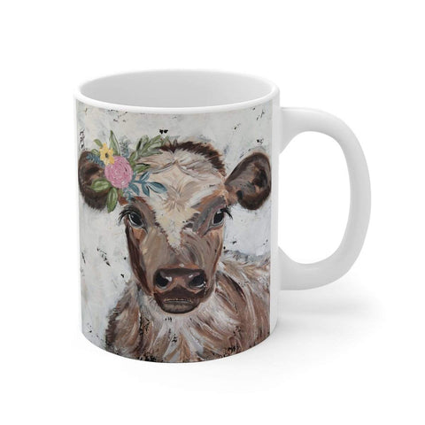 Cow Print on White Ceramic Mug - Gin's Den