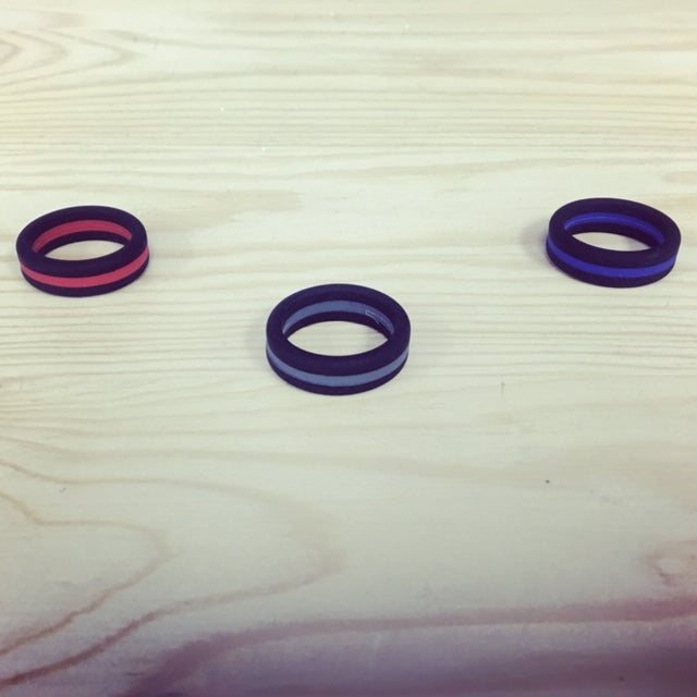 Thin Line Silicone Bands