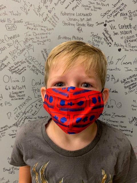 Mask - Badge Logo All Over - Kids