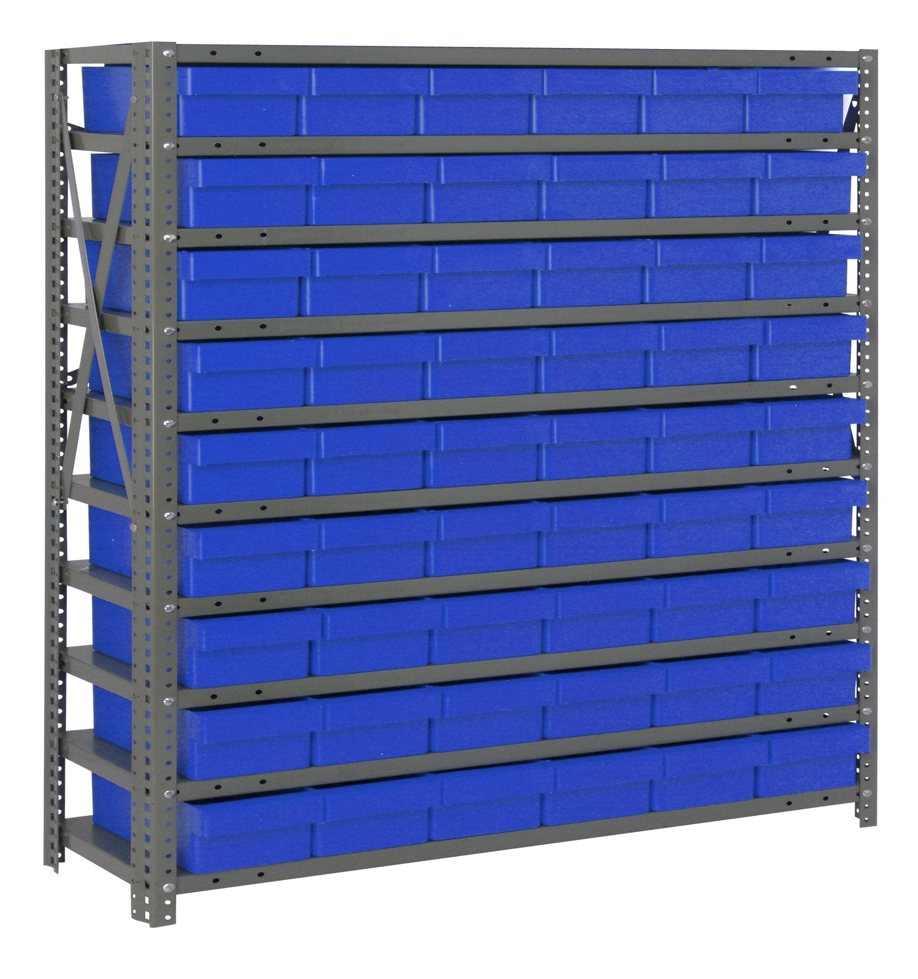"SUPER TUFF EURO DRAWER STEEL SHELVING SYSTEMS - 12"" x 36"" x 39"""