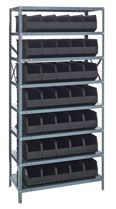 "STACKABLE SHELF BIN STEEL SHELVING SYSTEMS - 18"" x 36"" x 75"""