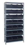 "STACKABLE SHELF BIN STEEL SHELVING SYSTEMS - 24"" x 36"" x 75"""