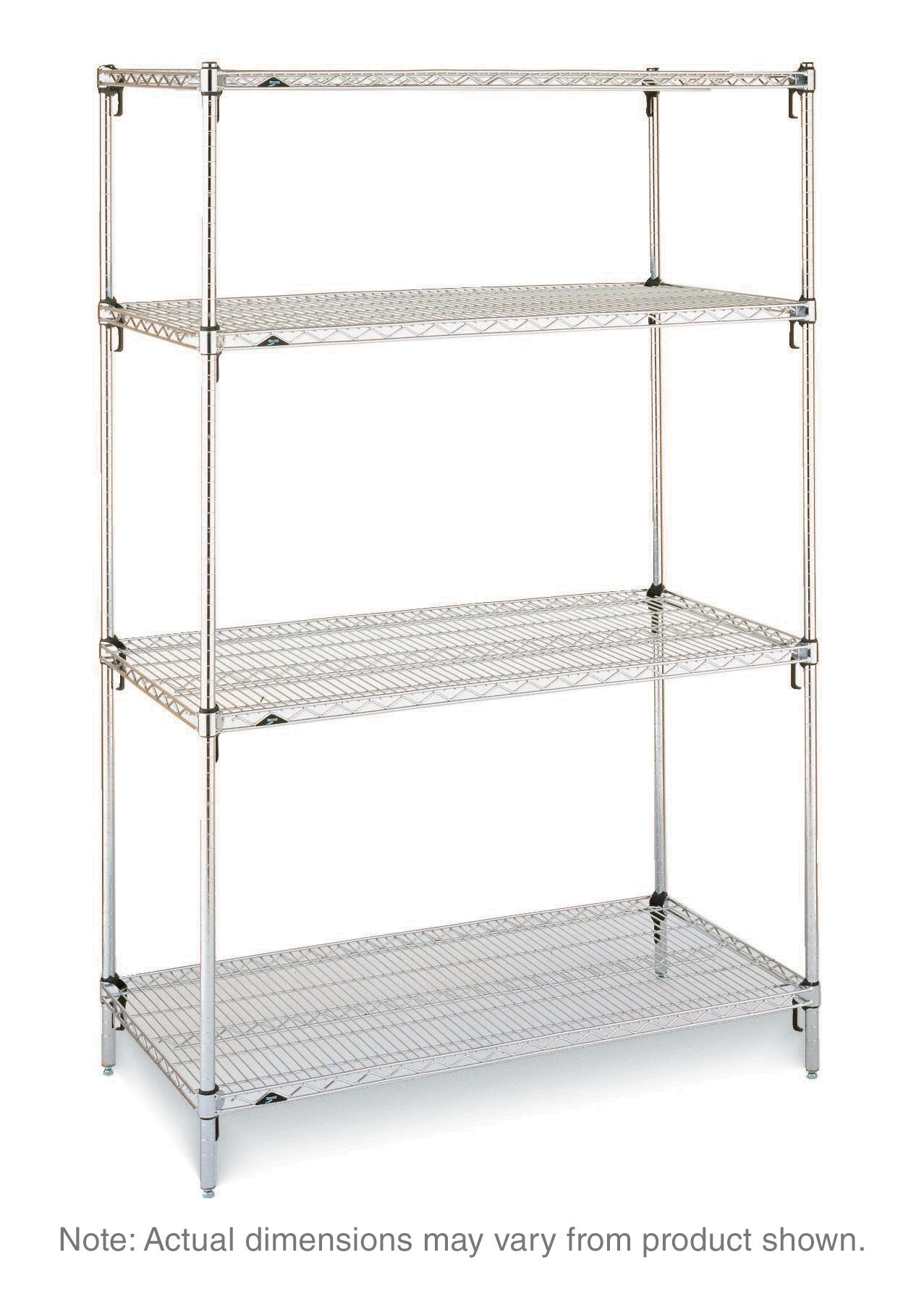Super Adjustable Stationary Shelving Unit - 4 Shelves