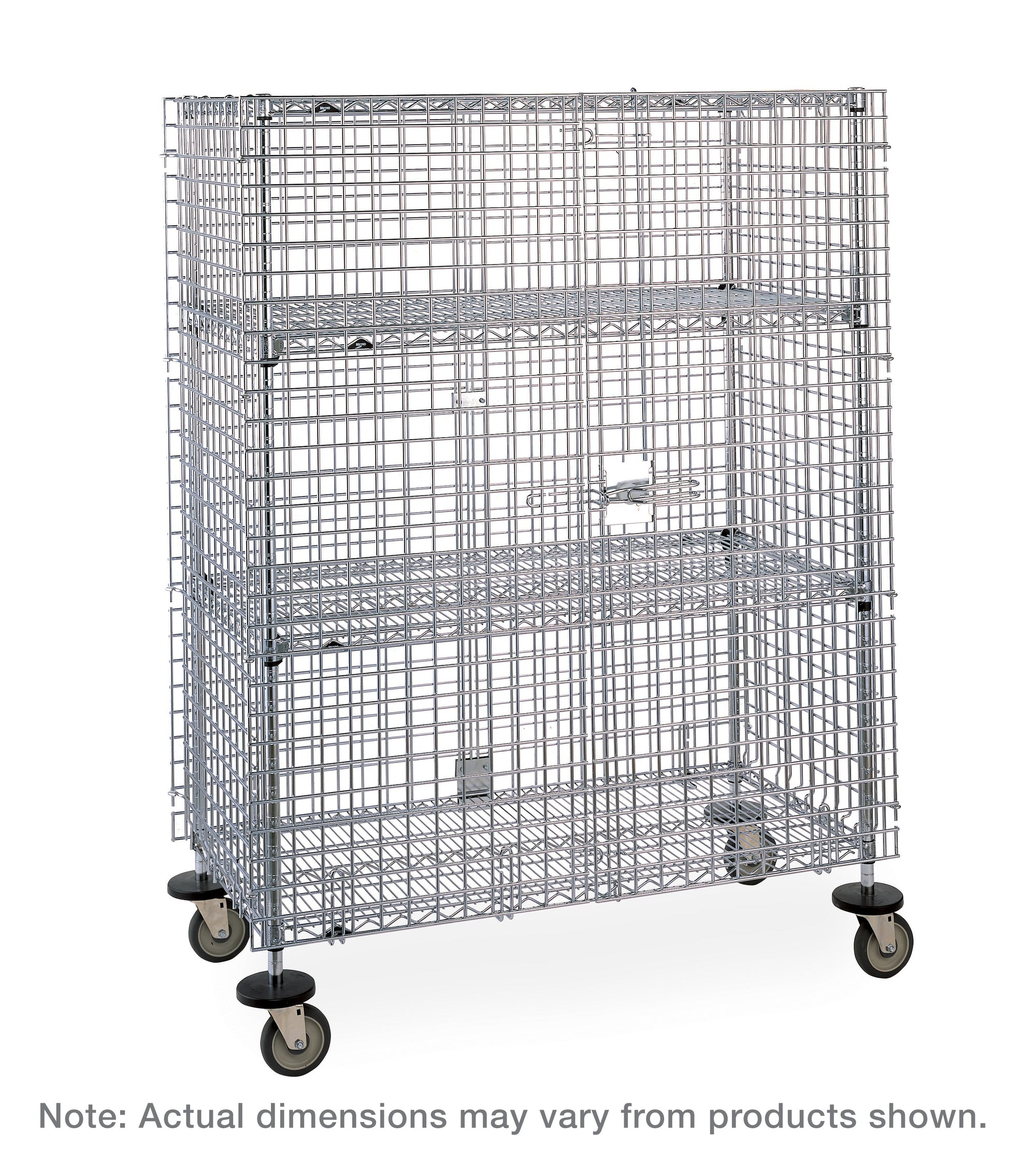 Super Erecta Mobile Security Shelving Unit - 2 Intermediate Shelves