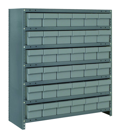 "CLOSED SUPER TUFF EURO DRAWER STEEL SHELVING SYSTEMS - 24"" x 36"" x 39"""