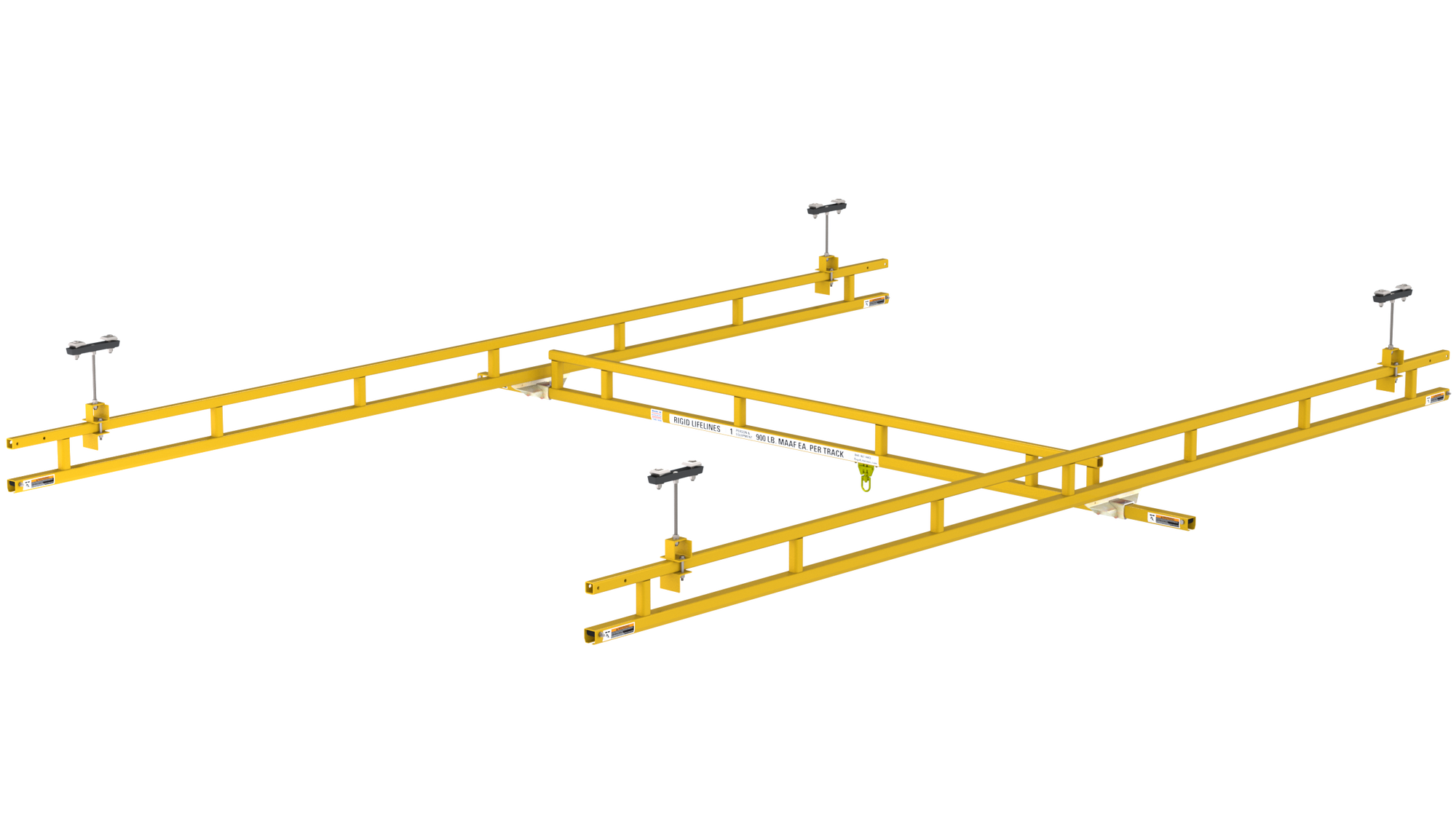 Ceiling Mount Traveling Bridge With 25' Track Support Spacing