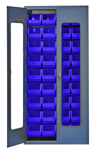 "CLEAR-VIEW HEAVY DUTY 36"" ALL-WELDED BIN CABINETS - QSC-C240"