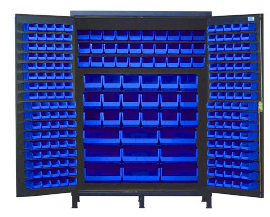 "60"" WIDE HEAVY-DUTY ALL-WELDED BIN CABINETS"
