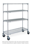 Super Adjustable Caster Cart Unit - 4 Shelves
