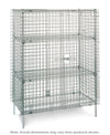 Super Erecta Stationary Security Shelving Unit - 2 Intermediate Shelves
