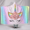 Glitter Unicorn Plush Sherpa Throw Hooded Blanket