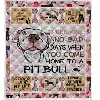 Pitbull Dog Quilt Blanket