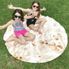 Staron Burrito Tortilla Blanket, Be a Giant Human Burrito, Tortilla or Taco, Soft & Plush Giant Round Beach Towel