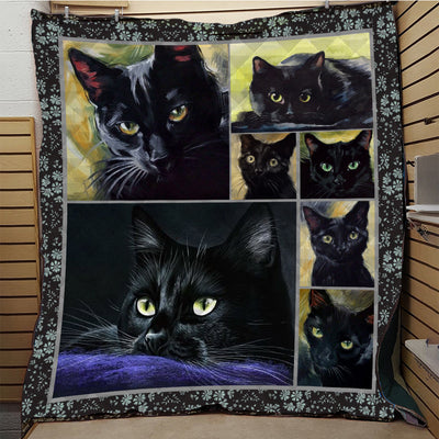 Black Cat Quilt Blanket