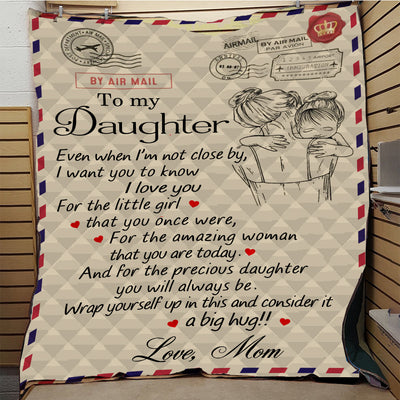Letter to Daughter Quilt Blanket Customized