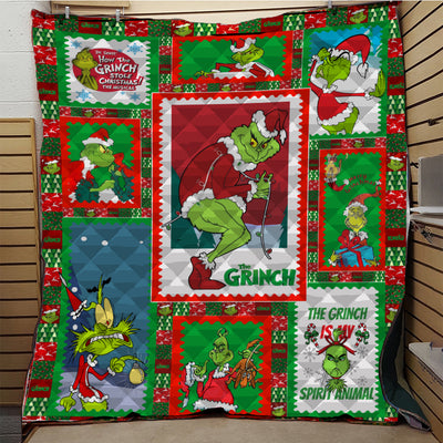 Merry Christmas Grinch Quilt Blanket