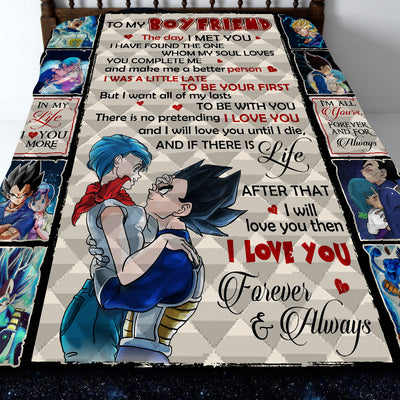 To My Boyfriend Dragon Ball Quilt Blanket