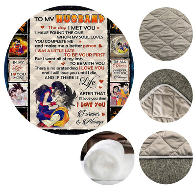 To My Husband Dragon Ball Quilt Blanket