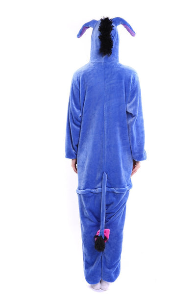 Blue Donkey Adult Pajamas Kigurumi Cosplay Costume Animal Winter Onesie Sleepwear - Laizis