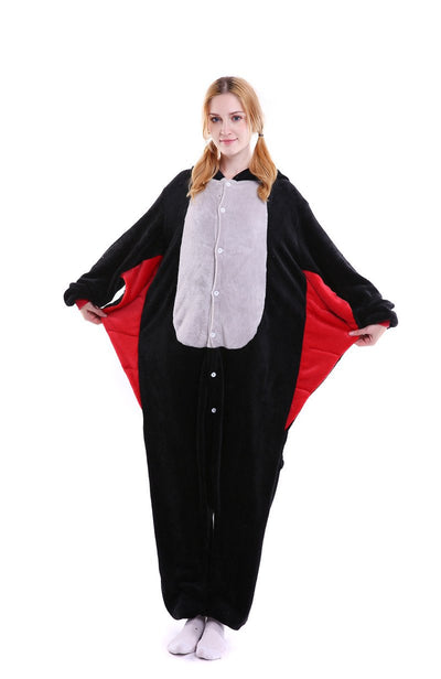 Unisex Adult Pajamas Kigurumi Cosplay Costume Animal Batman Superman Onesie Sleepwear - Laizis