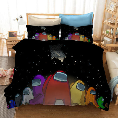 3D Among Us Duvet Cover Bedding Set