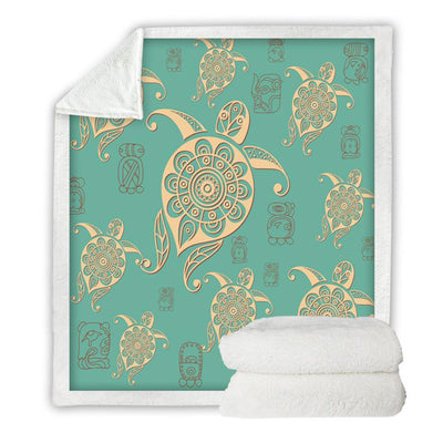 Turtles Plush Sherpa Throw Blanket