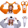 Kangaroo Koala Adult Pajamas Kigurumi Cosplay Costume Animal Winter Onesie Sleepwear - Laizis