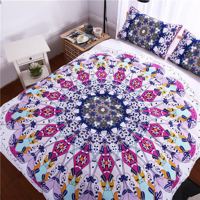 Fashion 3D Bohemian Indian Mandala Bedding Duvet Cover Set for Bedroom - Laizis