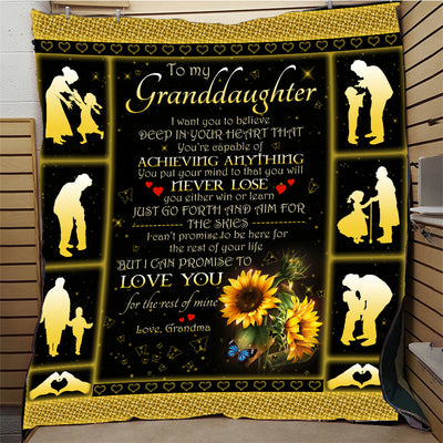 To My Granddaughter from Grandma Quilt Blanket