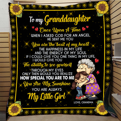 To My Granddaughter Quilt Blanket