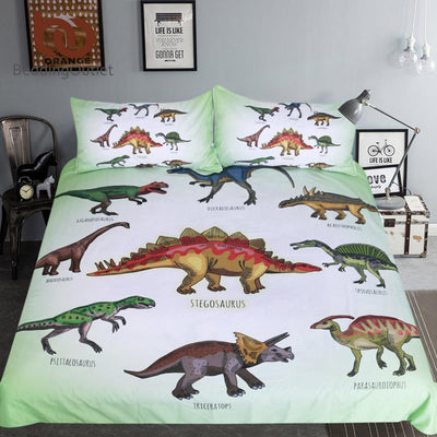 Dinosaur Bedding Set Jurassic Printed Duvet Cover Set