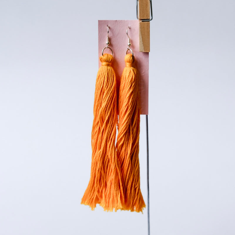 Long yellow tassels earrings - Qualms