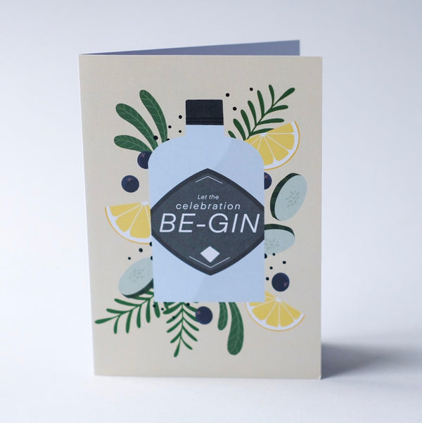 Let the celebration be-gin - Greeting Card