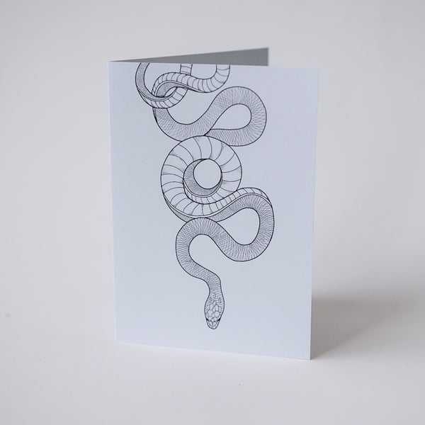 Snakey - Greeting Card