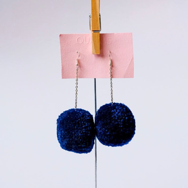 Blue puffy earrings - Qualms