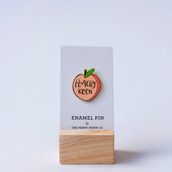 Peachy Keen Enamel Pin