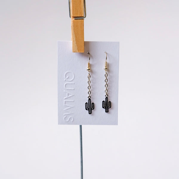 Silver cactus earrings - Qualms