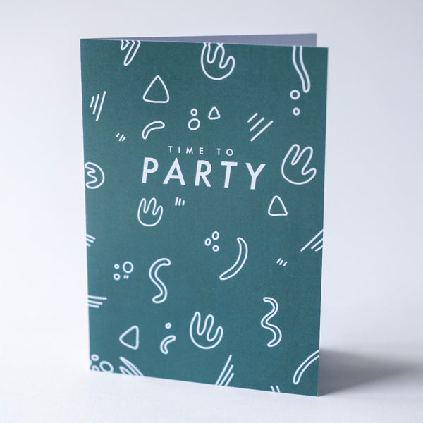 Time to Party - Greeting Card