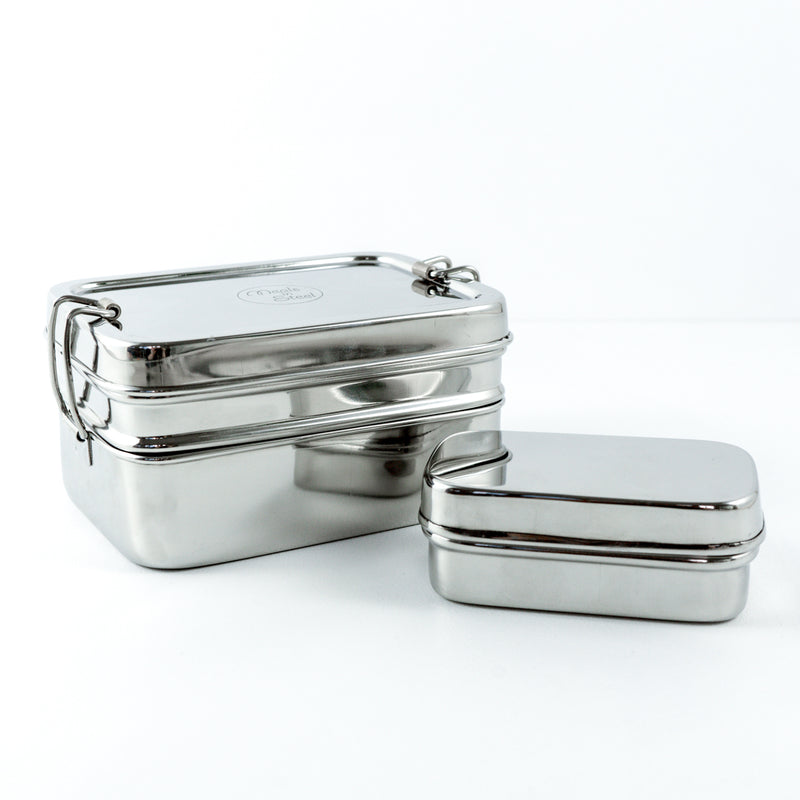Stainless Steel Double Layer Container - Medium