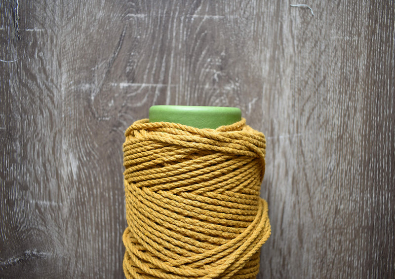 MACRAME COASTERS - set of 5 (natural or mustard)